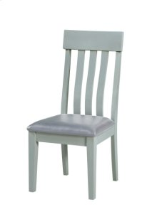 Dining Chair- Gray Base-gray Pu #904 (2/ctn)