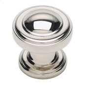 Bronte Knob 1 1/8 Inch - Polished Nickel