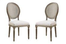 Emerald Home Salerno Side Chair W/uph Seat-rattan Back-sand Gray/distressed Finish-u3693-20-09