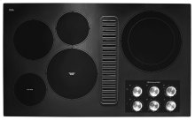"36"" Electric Downdraft Cooktop with 5 Elements - Black"