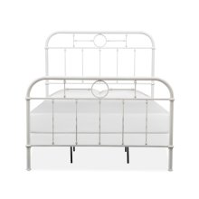 Complete Full Metal Bed - White
