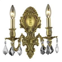 9602 Monarch Collection Wall Sconce French Gold Finish