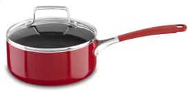 Aluminum Nonstick 2.0-Quart Saucepan with Lid - Empire Red
