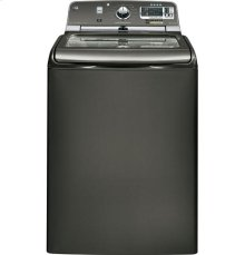 GE® 5.0 DOE cu. ft. capacity washer with stainless steel basket and steam