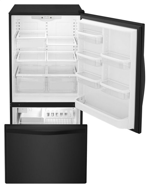 30-inches wide Bottom-Freezer Refrigerator with SpillGuard Glass Shelves - 18.7 cu. ft.