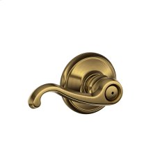 Callington Lever Bed & Bath Lock - Antique Brass
