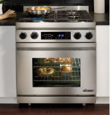 """Distinctive 30"""" Dual-Fuel Range, in Stainless Steel with Epicure Style Handle (Natural Gas)"""