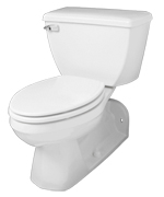 "White Ultra Flush® 1.28 Gpf 4 1/4"" Vertical Rough-in Two-piece Back Outlet Elongated Toilet"