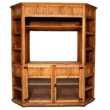 Large Corner T V Bookcase