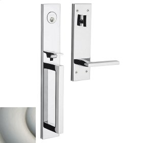Satin Nickel Minneapolis Full Escutcheon Handleset