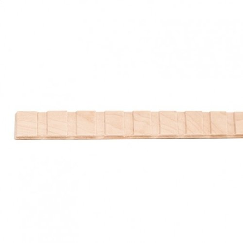 """5/8"""" x 1/4"""" Dentil with 1/4"""" gap and 1/2"""" teeth Species: Hard Maple. Priced by the linear foot and sold in 8' sticks in cartons of 120'."""