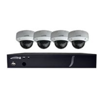 4 Ch. HD-TVI DVR and Camera Kit 4 ch. HD-TVI DVR, 1TB 4 HD-TVI 2MP IR dome cameras