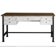 Writing Desk, Reclaimed white finish
