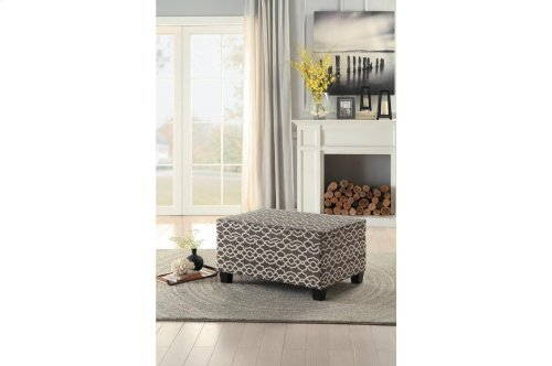 Lift-Top Storage Cocktail Ottoman, Brown