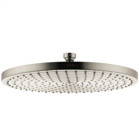 Brushed Nickel Showerhead 300 1-Jet, 2.5 GPM