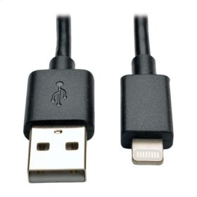 USB Sync / Charge Cable with Lightning Connector - Black, 10-in.