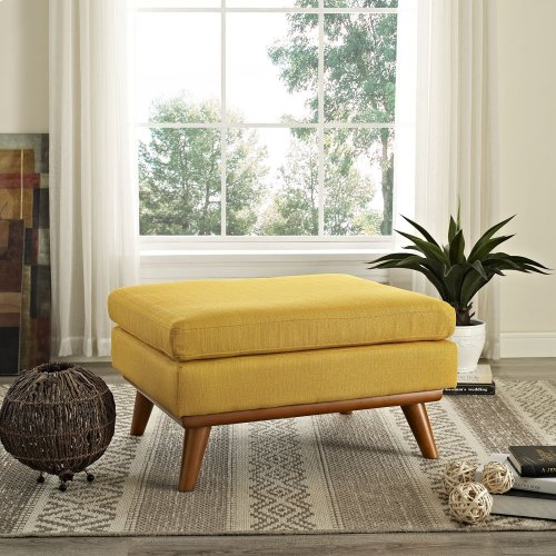 Engage Upholstered Fabric Ottoman in Citrus