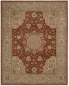 HERITAGE HALL HE26 RUST RECTANGLE RUG 8'6'' x 11'6''