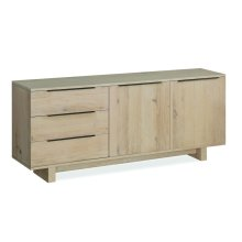 White Oil Large Sideboard Wooden Base