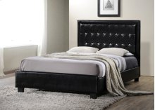 Black Leatherette Full Size Bed