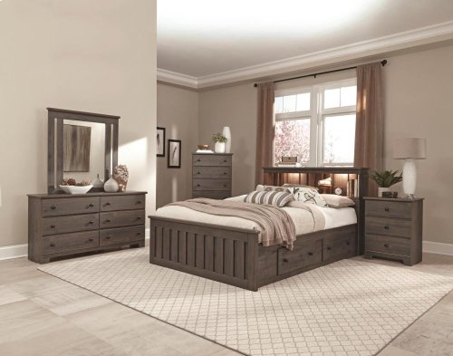 4-Drawer Panel Captains Bed - Full