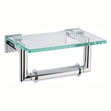 Polished Chrome Double Post Toilet Tissue Holder with Cover