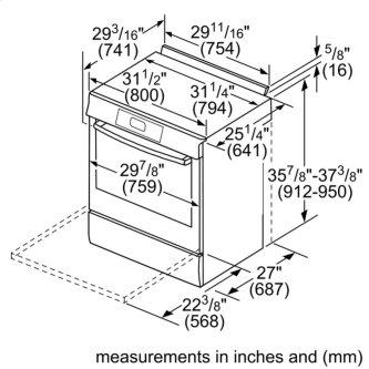 Benchmark™ Gas Slide-in Range 30'' Stainless steel HGIP056UC