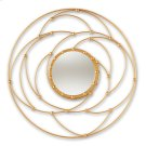 Baxton Studio Marisol Modern and Contemporary Antique Gold Finished Round Accent Wall Mirror Product Image