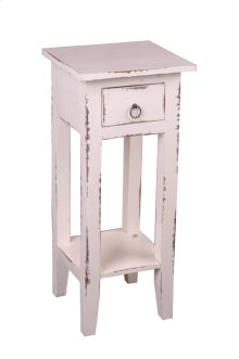 CC-TAB1792LD-WW  Cottage Narrow Side Table  Distressed  White Washed