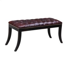 Tufted Leather Bench