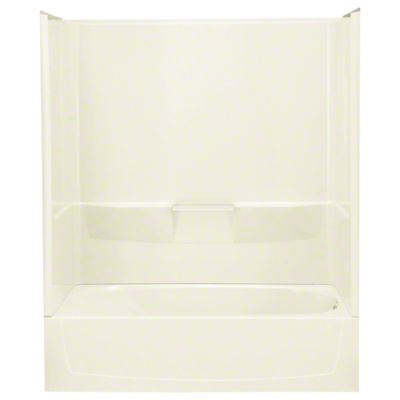 "Performa™ AFD, Series 7104, 60"" x 29"" x 78"" Bath/Shower - Right-hand Drain - KOHLER Biscuit"