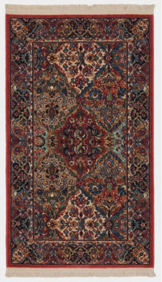 Multicolor Panel Kirman Multi Rectangle 2ft 6in X 4ft 3in