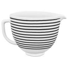 5 Quart Horizontal Stripes Patterned Ceramic Bowl