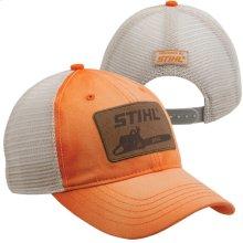 Enjoy the vintage look of this washed orange cap!
