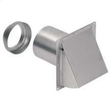 "Wall Cap, Aluminum, for 3"" and 4"" round duct"