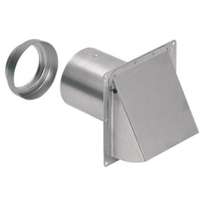 """Wall Cap, Aluminum, for 3"""" and 4"""" round duct"""