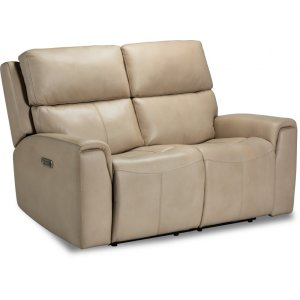 FlexsteelJarvis Power Reclining Loveseat with Power Headrests