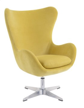 Swivel Chair-gold #hd451-01 W/chrome Pedestal Base