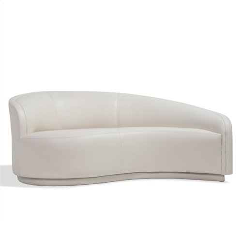 Dana Left Arm Chaise - Cream Leather