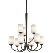 Aubrey 9 Light Chandelier with LED Bulbs Olde Bronze®