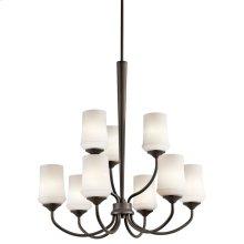 Aubrey 9 Light Chandelier with LED Bulbs Olde Bronze®