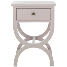 Maxine Accent Table With Storage Drawer - Quartz Grey