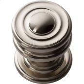 Campaign Round Knob 1 1/4 Inch - Brushed Nickel