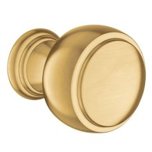 Weymouth brushed gold drawer knob