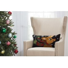 """Home for the Holiday Yx107 Multicolor 12"""" X 24"""" Throw Pillows"""