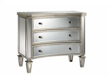 Bow-Front 3-Drawer Mirrored Chest