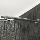 Wall-mount oval shower arm with flange. Product Image