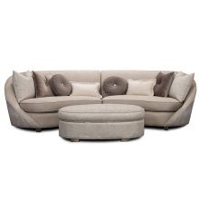 Silver 2 PCS Sectional