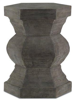 Pagoda Hexagonal Stool - 18h x 14w x 14d