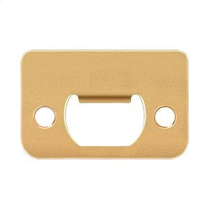 "Strike Plate, 2-1/4"" x 1-1/2"" - PVD Polished Brass"